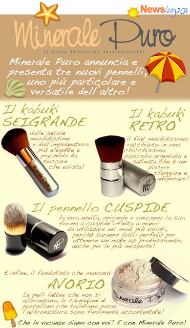 Minerale Puro: nuovi pennelli!