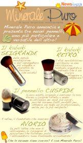 Recensione nuovi pennelli Minerale Puro: Sei Grande, Cuspide, Retro.
