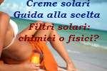 woman holding suntan lotion on a tropical beach