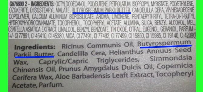 Etichetta cosmetici