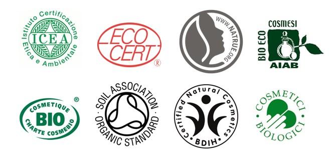 Loghi certificazione cosmetici