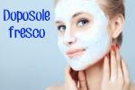 Maschera viso rinfrescante, lenitiva e doposole