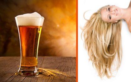 Maschera alla Birra, per capelli super luminosi!