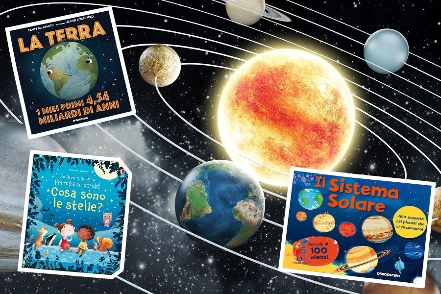libri per bambini sui pianeti e sull'astronomia