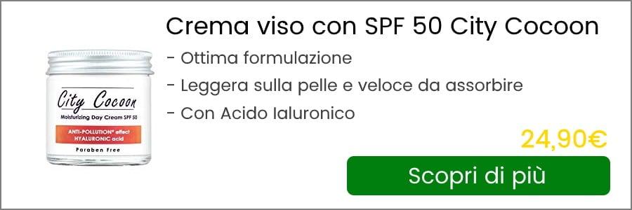 crema viso antirughe con spf 50