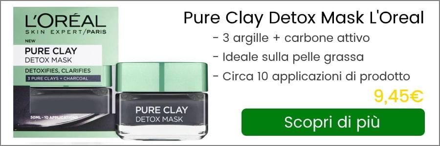 pure clay detox mask l'oreal