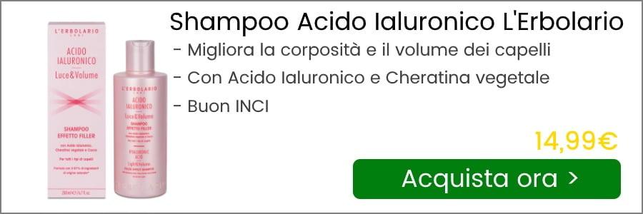 shampoo acido ialuronico l'erbolario prezzo