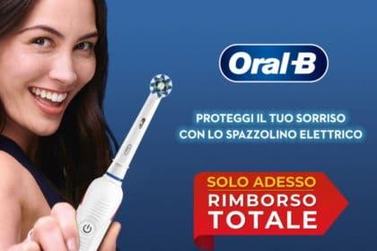 Il migliore spazzolino elettrico Oral B gratis con rimborso totale!