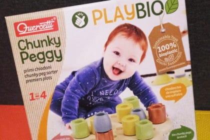 Chunky Peggy Quercetti Play BIO: recensione gioco in bioplastica