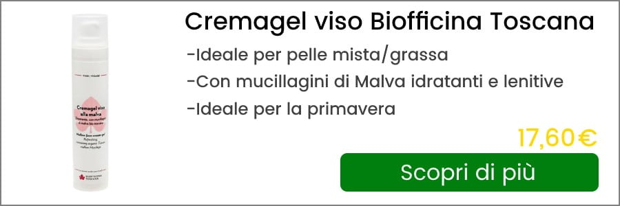 crema gel viso alla malva biofficina toscana